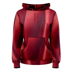 Red Fabric Textile Macro Detail Women s Pullover Hoodie