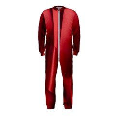 Red Fabric Textile Macro Detail Onepiece Jumpsuit (kids)