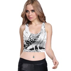 Animal Bird Forest Nature Owl Racer Back Crop Top