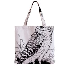 Animal Bird Forest Nature Owl Zipper Grocery Tote Bag