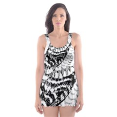 Animal Bird Forest Nature Owl Skater Dress Swimsuit
