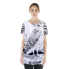 Animal Bird Forest Nature Owl Skirt Hem Sports Top