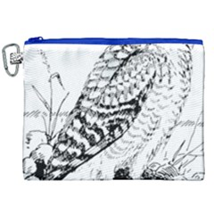 Animal Bird Forest Nature Owl Canvas Cosmetic Bag (xxl)