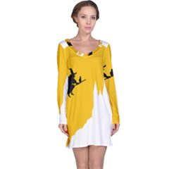 Castle Cat Evil Female Fictional Long Sleeve Nightdress
