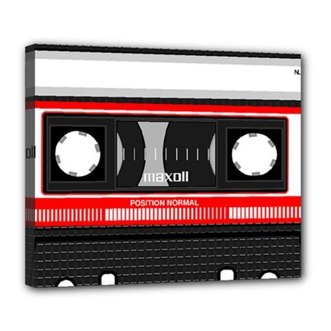 Compact Cassette Musicassette Mc Deluxe Canvas 24  X 20