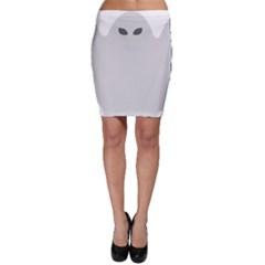 Ghost Halloween Spooky Horror Fear Bodycon Skirt