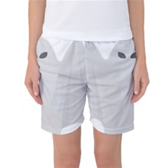 Ghost Halloween Spooky Horror Fear Women s Basketball Shorts