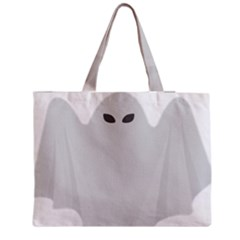Ghost Halloween Spooky Horror Fear Zipper Medium Tote Bag