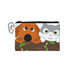 Baby Decoration Cat Dog Stuff Canvas Cosmetic Bag (small)