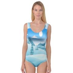 Landscape Winter Ice Cold Xmas Princess Tank Leotard