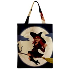 Witch Witchcraft Broomstick Broom Zipper Classic Tote Bag