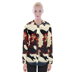 Witch Witchcraft Broomstick Broom Womens Long Sleeve Shirt