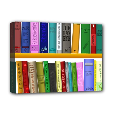 Shelf Books Library Reading Deluxe Canvas 16  X 12