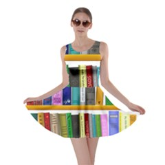 Shelf Books Library Reading Skater Dress