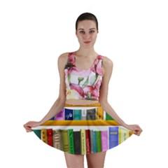 Shelf Books Library Reading Mini Skirt