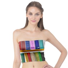 Shelf Books Library Reading Tube Top