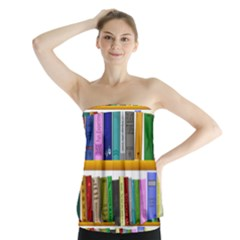 Shelf Books Library Reading Strapless Top
