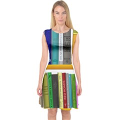 Shelf Books Library Reading Capsleeve Midi Dress