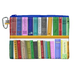 Shelf Books Library Reading Canvas Cosmetic Bag (xl)