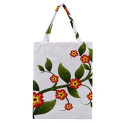 Flower Branch Nature Leaves Plant Classic Tote Bag