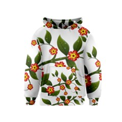 Flower Branch Nature Leaves Plant Kids  Pullover Hoodie