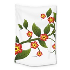Flower Branch Nature Leaves Plant Small Tapestry