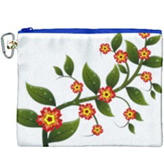 Flower Branch Nature Leaves Plant Canvas Cosmetic Bag (xxxl)