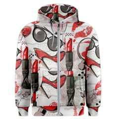 Cosmetic Pattern Men s Zipper Hoodie