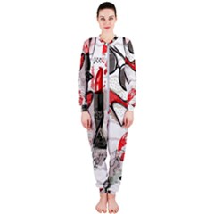 Cosmetic Pattern Onepiece Jumpsuit (ladies)