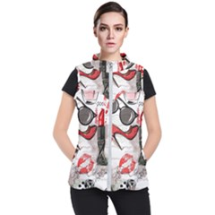 Cosmetic Pattern Women s Puffer Vest