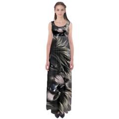 Angry Lion Digital Art Hd Empire Waist Maxi Dress