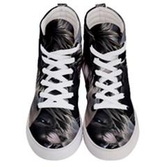 Angry Lion Digital Art Hd Men s Hi Top Skate Sneakers