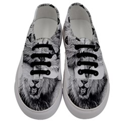 Lion Wildlife Art And Illustration Pencil Men s Classic Low Top Sneakers