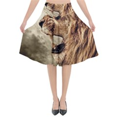 Roaring Lion Flared Midi Skirt