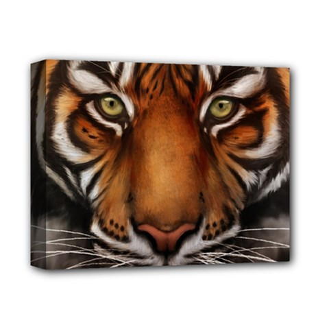 The Tiger Face Deluxe Canvas 14  X 11