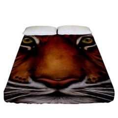 The Tiger Face Fitted Sheet (king Size)