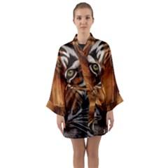 The Tiger Face Long Sleeve Kimono Robe