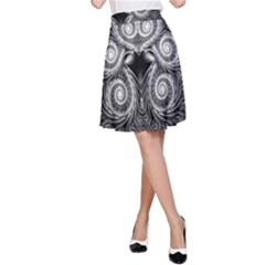 Fractal Filigree Lace Vintage A Line Skirt