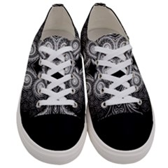 Fractal Filigree Lace Vintage Women s Low Top Canvas Sneakers