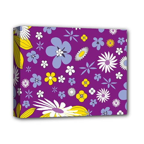 Floral Flowers Deluxe Canvas 14  X 11