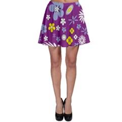 Floral Flowers Skater Skirt