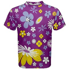 Floral Flowers Men s Cotton Tee