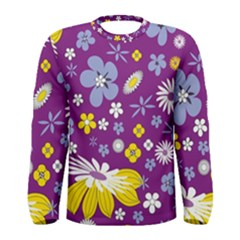 Floral Flowers Men s Long Sleeve Tee
