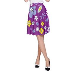 Floral Flowers A Line Skirt