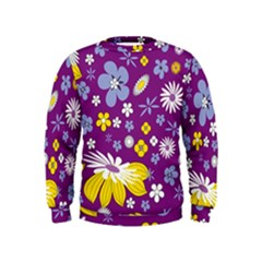 Floral Flowers Kids  Sweatshirt
