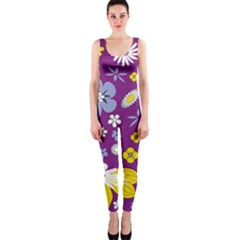 Floral Flowers Onepiece Catsuit