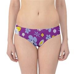 Floral Flowers Hipster Bikini Bottoms