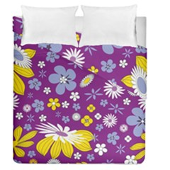 Floral Flowers Duvet Cover Double Side (queen Size)