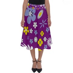 Floral Flowers Perfect Length Midi Skirt