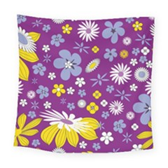 Floral Flowers Square Tapestry (large)